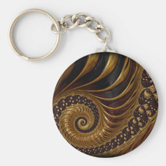 Psychedelic Chocolate Fractal Key Ring