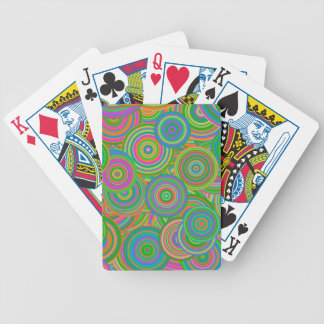 Psychedelic Circles Bicycle Playing Cards