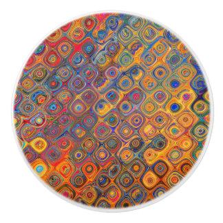 Psychedelic Circles Ceramic Knob