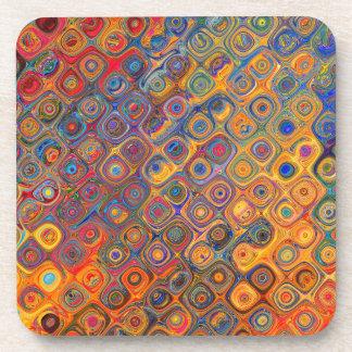 Psychedelic Circles Coaster
