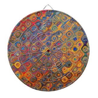 Psychedelic Circles Dartboard