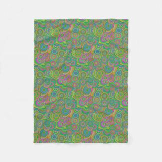 Psychedelic Circles Fleece Blanket