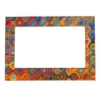 Psychedelic Circles Magnetic Picture Frame