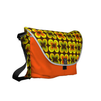 Psychedelic circles courier bags