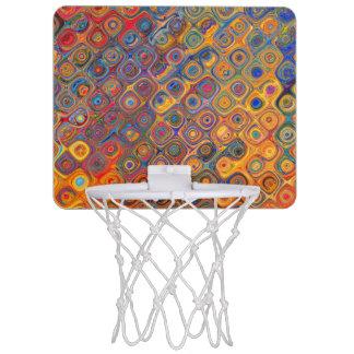 Psychedelic Circles Mini Basketball Hoop