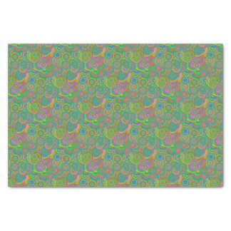 Psychedelic Circles Tissue Paper