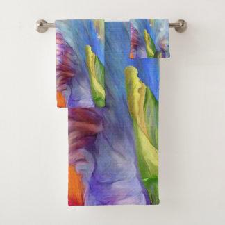 Psychedelic color scheme bath towel set
