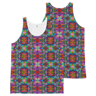 Psychedelic Color Swirl All-Over Print Singlet