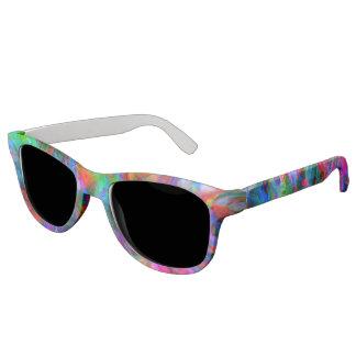 Psychedelic Color Swirl Sunglasses