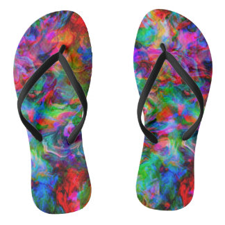 Psychedelic Color Swirl Thongs