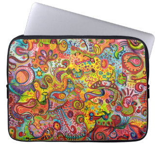 Psychedelic Colorful Abstract Laptop Computer Sleeves