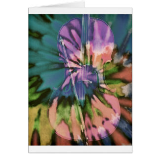 Psychedelic colorful cello card