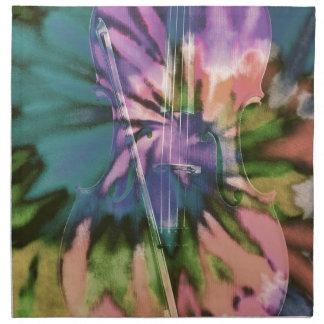 Psychedelic colorful cello napkin