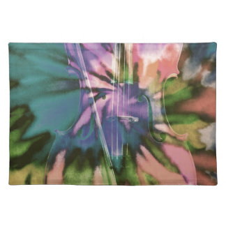 Psychedelic colorful cello placemat