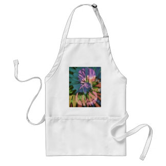 Psychedelic colorful cello standard apron