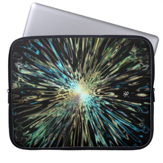 Psychedelic colorful sketch of the Big Bang Laptop Sleeve