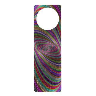 Psychedelic colors door knob hangers