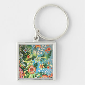 Psychedelic colors key ring