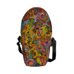 Psychedelic Colourful Abstract Mini Messenger Bag