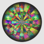 Psychedelic colours by Valxart.com Round Stickers