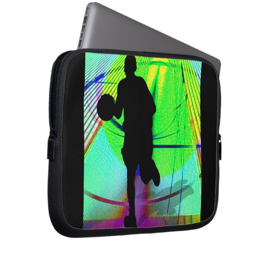 Psychedelic Court Basketball Laptop Sleeve