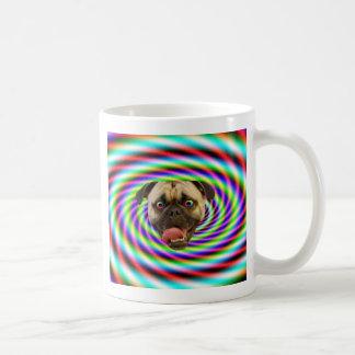 Psychedelic Crazy Pug Dog Mugs