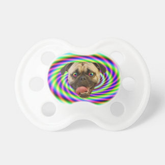 Psychedelic Crazy Pug Dog Pacifiers