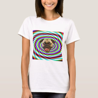 Psychedelic Crazy Pug Dog T-Shirt