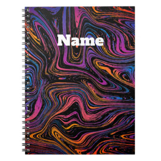 Psychedelic Current Swirl Notebooks
