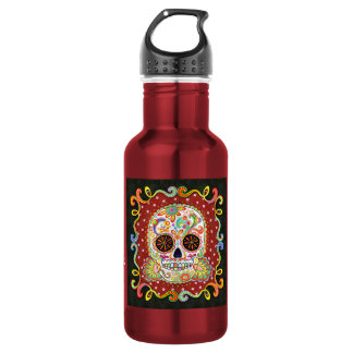 Psychedelic Day of the Dead Skull 532 Ml Water Bottle