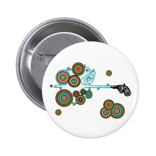 Psychedelic Derringer Vector Buttons