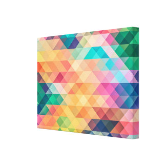 Psychedelic Diamonds and Triangles Canvas Print