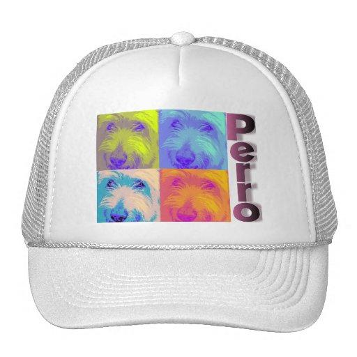 Psychedelic Dog in Spanish Trucker Hat