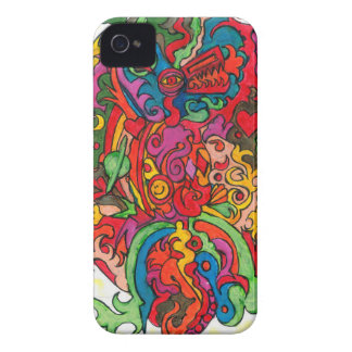 Psychedelic Dragon iPhone 4 Case-Mate Case