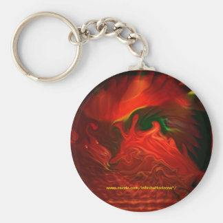 Psychedelic Dragon Style 3 Keychain