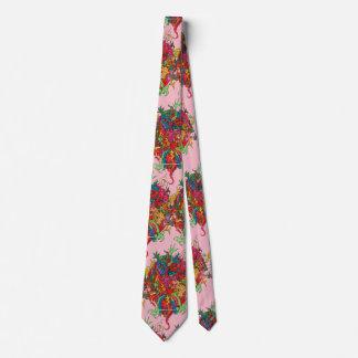 Psychedelic Dragon Tie