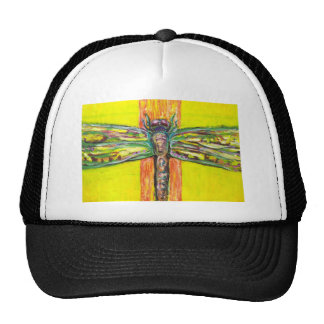 Psychedelic Dragonfly in Paradise Mesh Hats