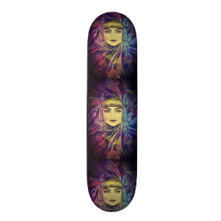 Psychedelic Dreamy Girl - Surrealism Painting Skateboard Deck