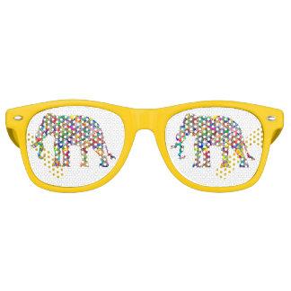 Psychedelic elephant retro sunglasses