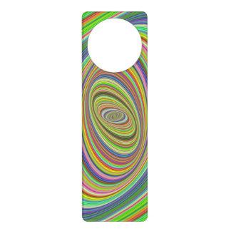 Psychedelic ellipse door knob hanger