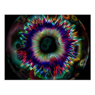 Psychedelic Explosion Fractal Postcard