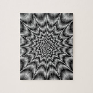 Psychedelic Explosion In Black and White Puzzle