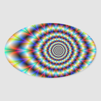 Psychedelic Eye Oval Sticker