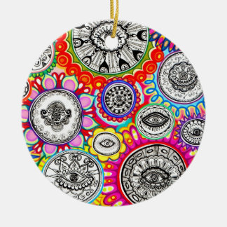 Psychedelic Eyes Ornament