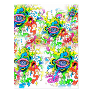 Psychedelic Eyes Postcard