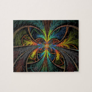 Psychedelic Feathers Jigsaw Puzzles