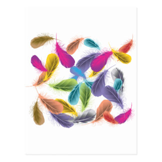 Psychedelic Feathers Postcard