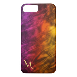 Psychedelic Fire Monogram iPhone 7 Plus Case