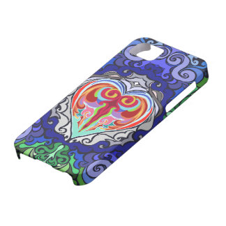 Psychedelic Flash ~Valentines~ Blue Iphone Case