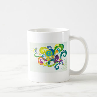 Psychedelic Floral Coffee Mug